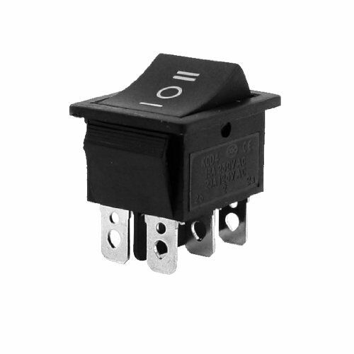 6-Terminals 3Position ON//OFF//ON DPDT Boat Rocker Switch 16A 250VAC 20A 125V E8W3
