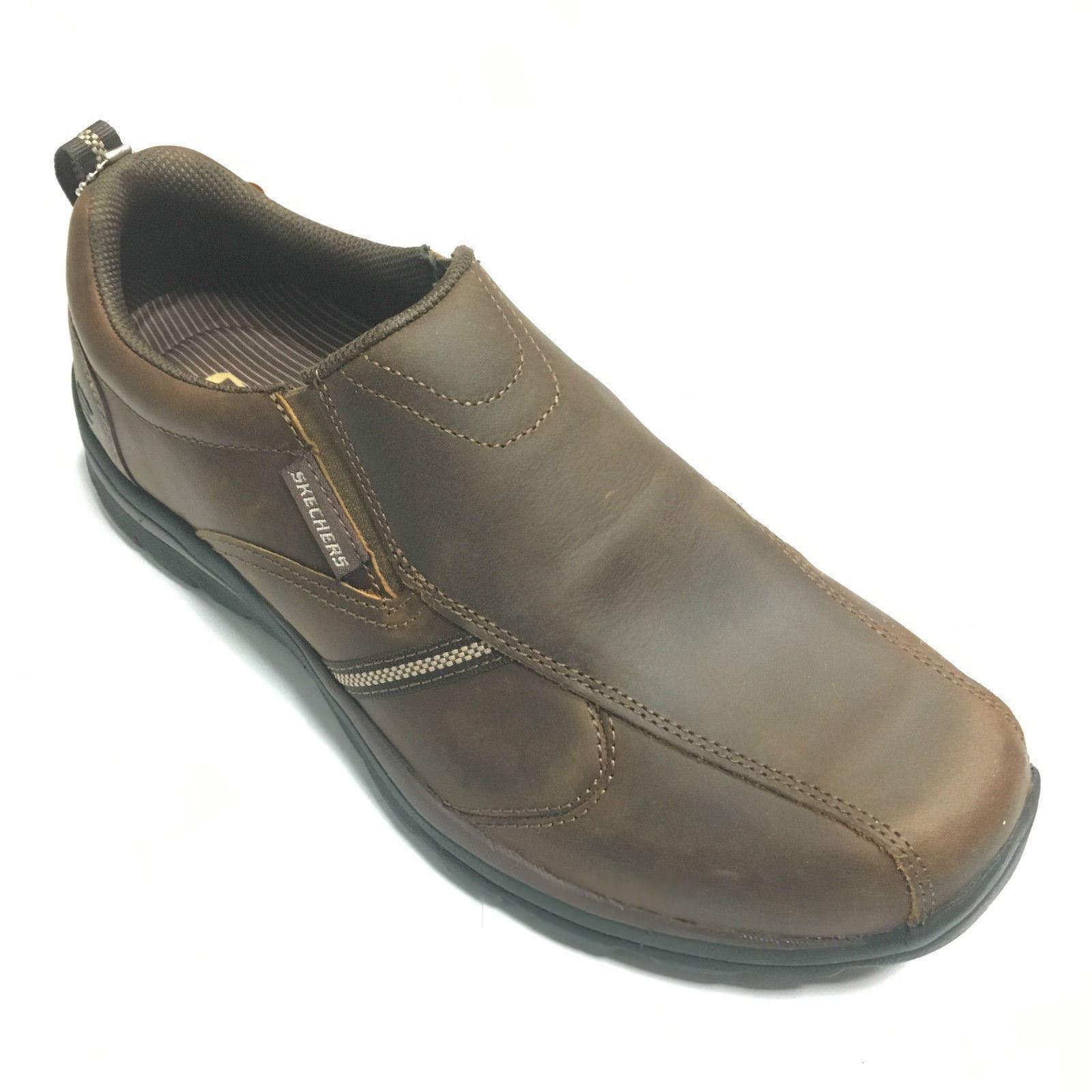 Scarpe casual da uomo  Da Uomo Skechers 64590 CDB Superiore Marrone Scuro Tg 6-11