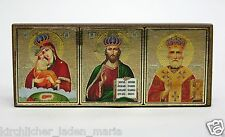 Auto Ikone GM  Jesus Nikolaus автомобильная икона тройник 8,0x3,3x0,6 cm
