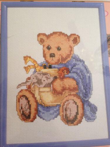 JANLYNN BEAR COLLECTION TEDDY NOAH/'S ARK BEAR COUNTED CROSS STITCH KIT NIP