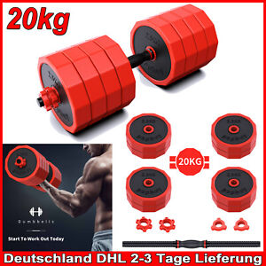 Hantel Kurzhantel Set 20KG Krafttraining Gewichte Hantelset Kurzhanteln DHL