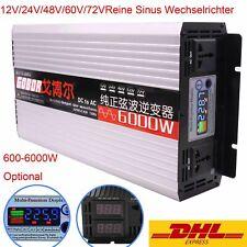 600//3000//4000//6000W Reine Sinus Wechselrichter Spannungswandler DC12V//24V//48V