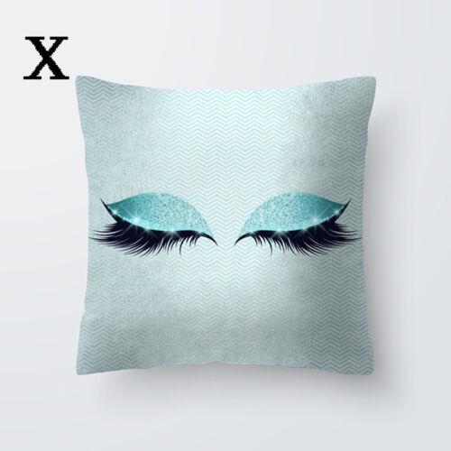 Fashion Pillow Case Glitter Eyelash Lash Car Sofa Throw Cushion Cover Home Decor