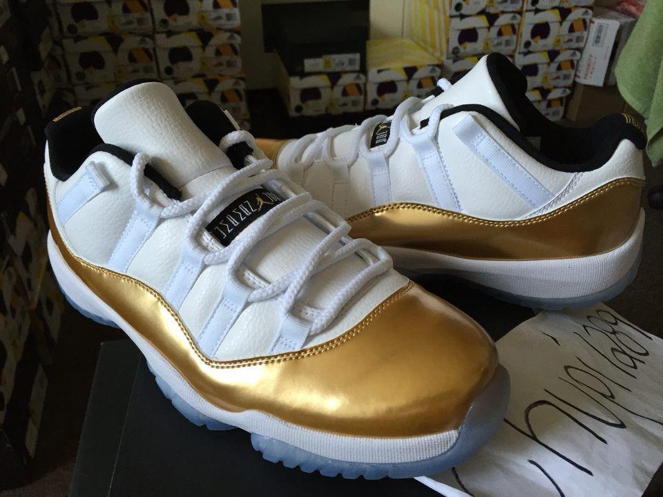 Nike Air Jordan ceremonia 11 retro XI baja ceremonia Jordan de cierre oro blanco olímpico 528895-103 baratos zapatos de mujer zapatos de mujer c84abc