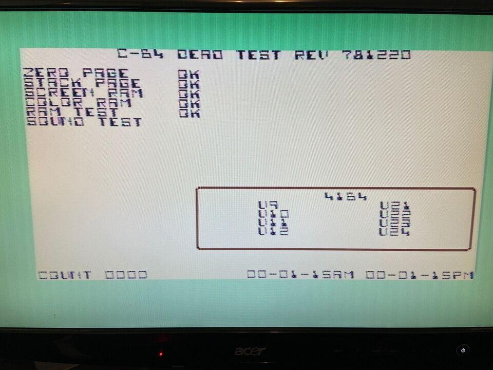Diagnostic Cartridge, Commodore 64/