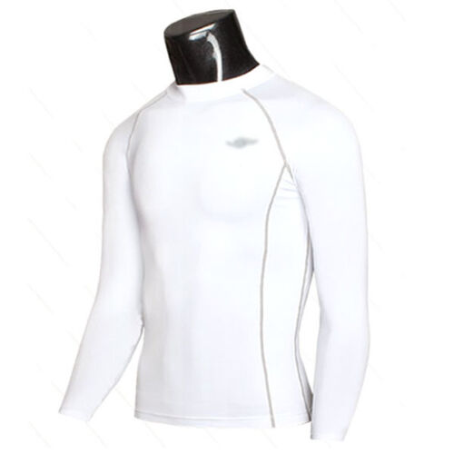 Men Long Sleeve Compression Under Base Layer Thermal Tights Top Shirt