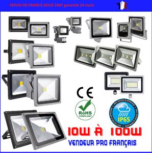PROJECTEUR-LED-exterieur-BLANC-PUR-avec-ou-sans-detecteur-10-30-50-100-200-WATT
