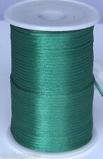 10yard dark green 2MM Rattail Satin Cord Macrame Beading Nylon Chinese knot rope