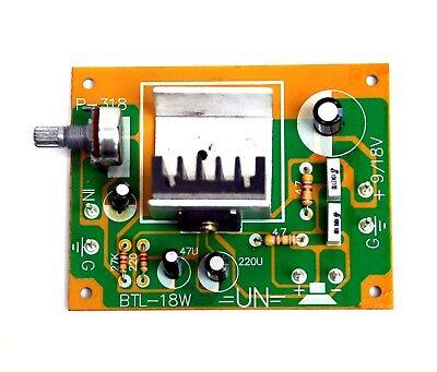 1pc BTL-18W TA8201AK BTL Audio Power Amplifier 18W max UN Taiwan Working V=DC18V