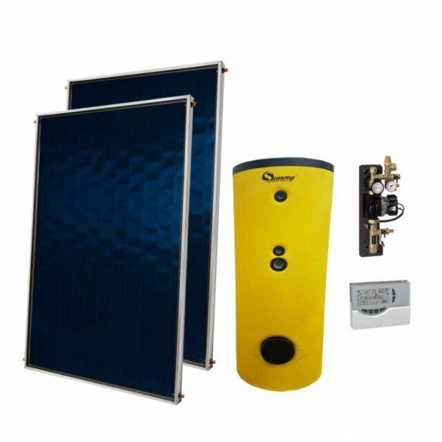 Sistema Termico a Circolazione Forzata Sunerg KIT BLU+ 200 LT 5 MQ tetto piano