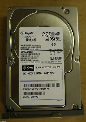 36GB 10K SCSI-SCA HARD DRIVE 3.5 3H