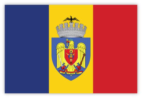 Bucharest București bandiera flag etichetta sticker 15cm x 10cm