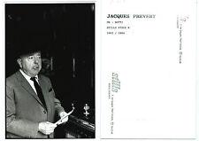 Photographie poète Jacques Prevert par Giancarlo Botti 1963 photo writer