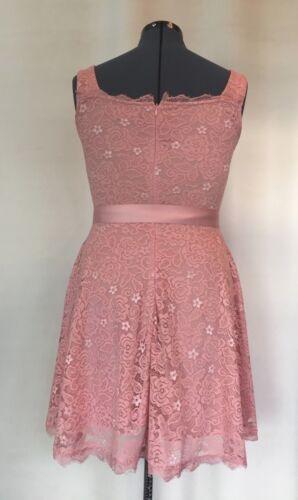 BeryLove Womens Blush Floral Lace Bridesmaid Short Cocktail Party Dress S,M,L