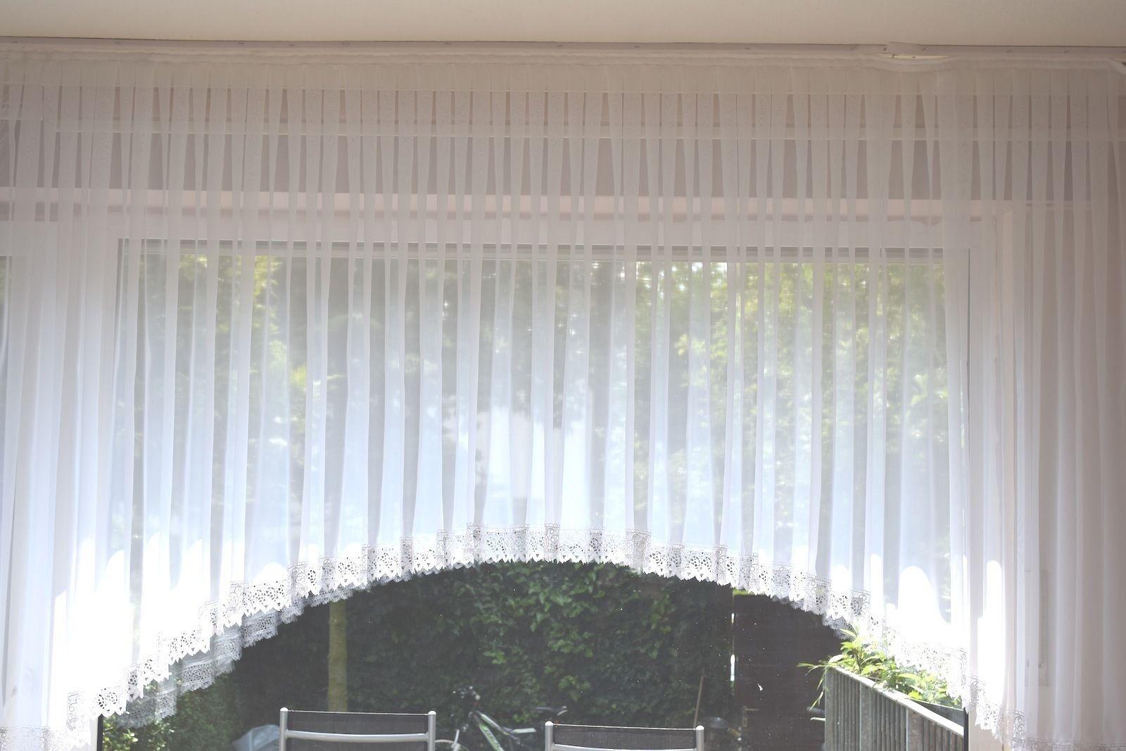 C-Bogen Store Gardine Landhaus azulmenfenster Uni Voile Makrame Spitze Borte 8cm
