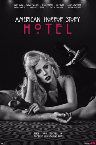 "AMERICAN HORROR STORY:HOTEL TV Show Silk Fabric Poster 11/""x17/"" Lady Gaga"