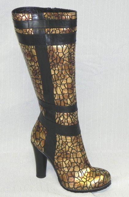 - extraordinario Exclusive botas en oro/Bronce