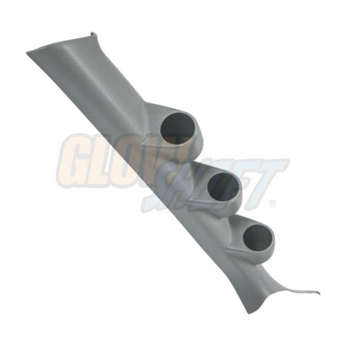 GlowShift Gray Triple Gauge 52mm Pillar Pod for 08-15 Mitsubishi Lancer EVO X