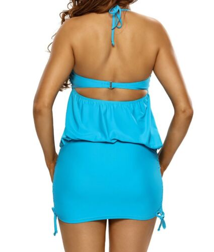 Womem/'s Blue Bikini Top 1 Pce Adjustable Swim Dress USA XL