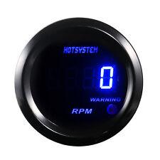 "Car Motor 2"" 52mm Blue Digital LED Elec 0-9999 RPM  TACHOMETER TACHO GAUGE #7014"