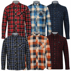 Da-Uomo-Camicia-Di-Flanella-Cotone-Tokyo-Laundry-Verificato-Tartan-Maniche-Lunghe-Con-Colletto-Nuovo
