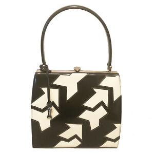 Gold-Pfeil-Signature-Black-amp-White-Cutout-Arrow-Logo-Handbag