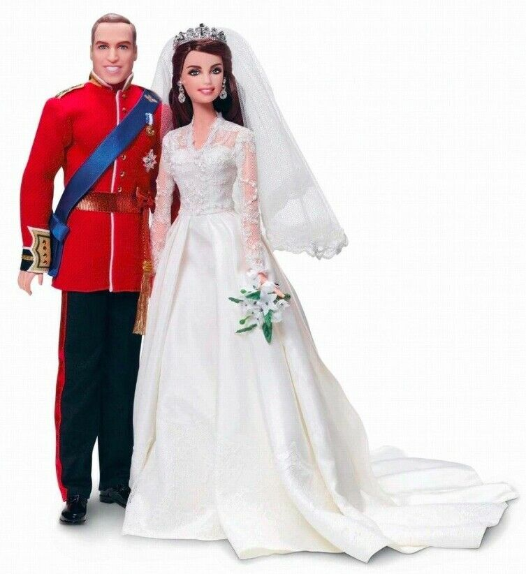 NEW BOXED 2012 BARBIE Royal Wedding William & Catherine Gift Set. MIB