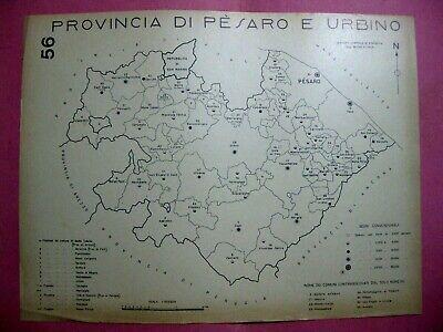 Cartina Europa 1938.Stampa Mappa Comuni Della Provincia Di Pesaro Urbino San Marino Fano Cagli 1938 Ebay