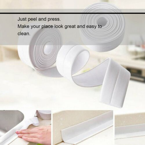 Tub Surround Sealer Trim Mold Proof Self Adhesive Kitchen Toilet Sealant ND