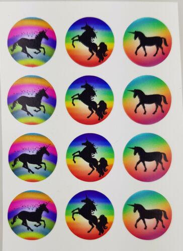 12 lots Stickers autocollants Arc Autocollant Scrapbooking Bricolage Licorne 2 cm