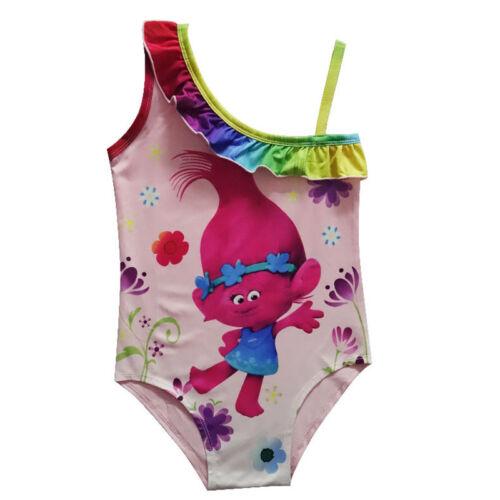 Mädchen Moana Troll Karikatur Badeanzug Bademode Kostüm Bikini Tankini Schwimm