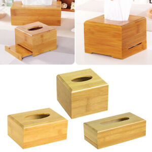 Bamboo-Tissue-Box-Cover-Finish-Wood-Holds-Most-Rectangular-Tissue-Boxes
