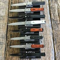8pc Assorted Italian Milano Stiletto Tactical Spring Assisted Open Pocket Knife