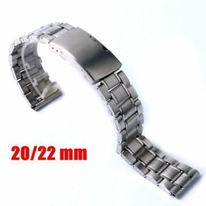 20/22mm Silver Stainless Steel Replacement Wrist Bracelet Watch Band  Strap