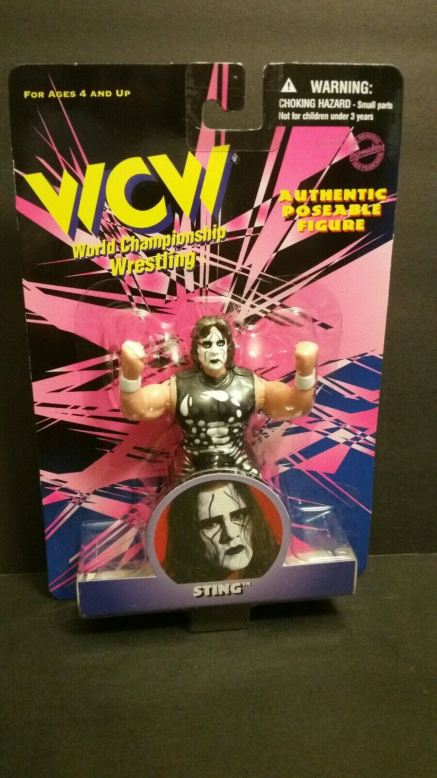 WCW STING AUTHENTIC POSEABLE FIGURE(077)