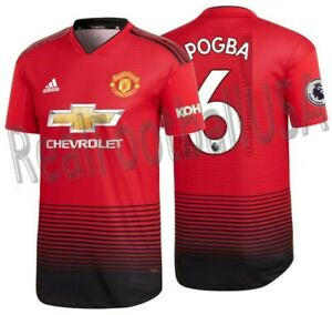 the latest 94eb0 97bfc Details about ADIDAS PAUL POGBA MANCHESTER UNITED AUTHENTIC MATCH HOME  JERSEY 2018/19 KOHLER