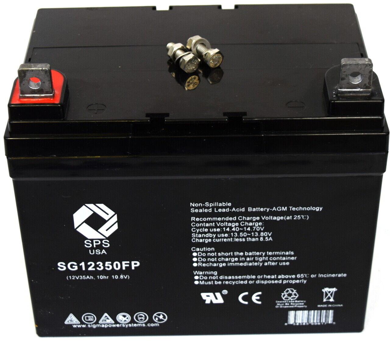 SPS Brand 12V 35Ah battery for Lawn Mower John Deere TY23017 TY21753 TY25878 TY