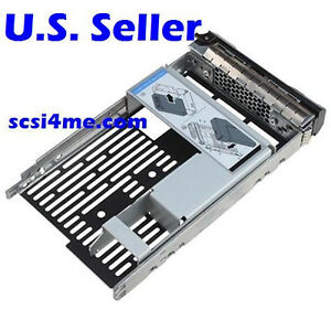 DBTLAP 3.5 Tray Caddy F238F w//2.5 Adapter Bracket 654540-001 Compatible for Dell SAS//SATA//SSD