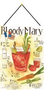 Bloody-Mary-Recette-Cocktail-BAR-Plaque-avec-Cordon-Etain-Signer-20-X-30-CM