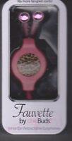 Fauvette By Chic Buds Inner Ear Retractable Earphones Pink Cheetah Ebox-2