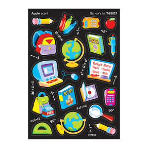 School S In Apple Scented Reward Stickers Decorate Exercise