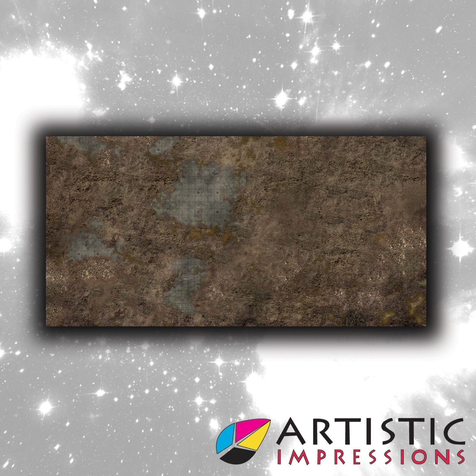 Vinyl 6x3' Ancient Ruin Gaming Mat - Ideal for Warhammer