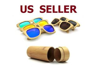 image is loading vintage men women bamboo sunglasses polarized wooden frame - Wood Frame Glasses