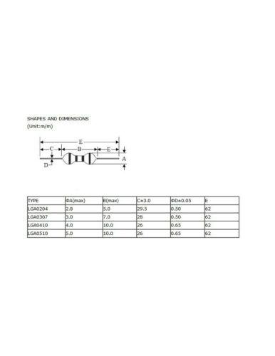 bobine 7558D x50 Pcs Inductance Axiale 8.2uH 1//2W SERIE 0410  self