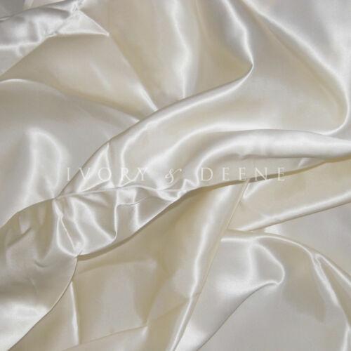 SATIN QUEEN Size Doona Duvet Quilt Cover Silk Feel Pearl Cream Ivory Bedding Set