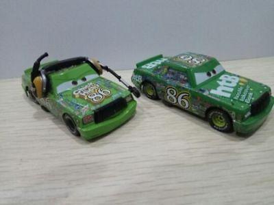 Disney Pixar Car Mack No.86 Retread Racer Truck /& Thick Hicks Toy Car 1:55 New