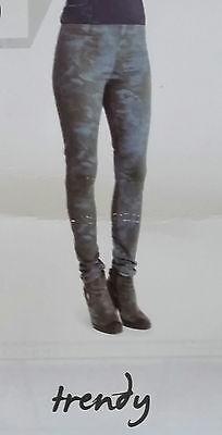 Energico Donna Tregging Oliva-grigio Motivo Floreale Pantaloni Varie Misure-mostra Il Titolo Originale Essere Distribuiti In Tutto Il Mondo