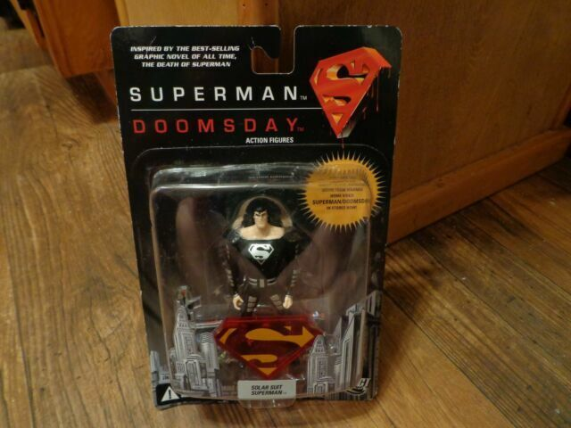 Superman Doomsday 4 5 Action Figure In Black Solar Suit By Dc