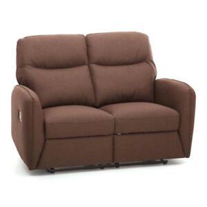 Divano kube 2 posti recliner relax tessuto marrone reclinabile per casa ufficio ebay - Divano per ufficio ...