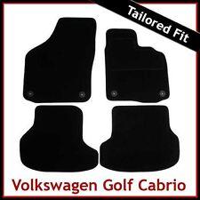 Volkswagen VW Golf Mk6 Cabriolet 2011-2016 Tailored Carpet Car Mats BLACK